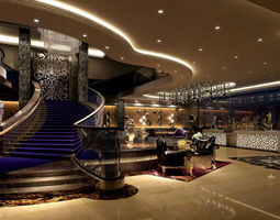 luxury new classic lobby 3D model