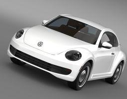 3d model volkswagen beetle classic 2015