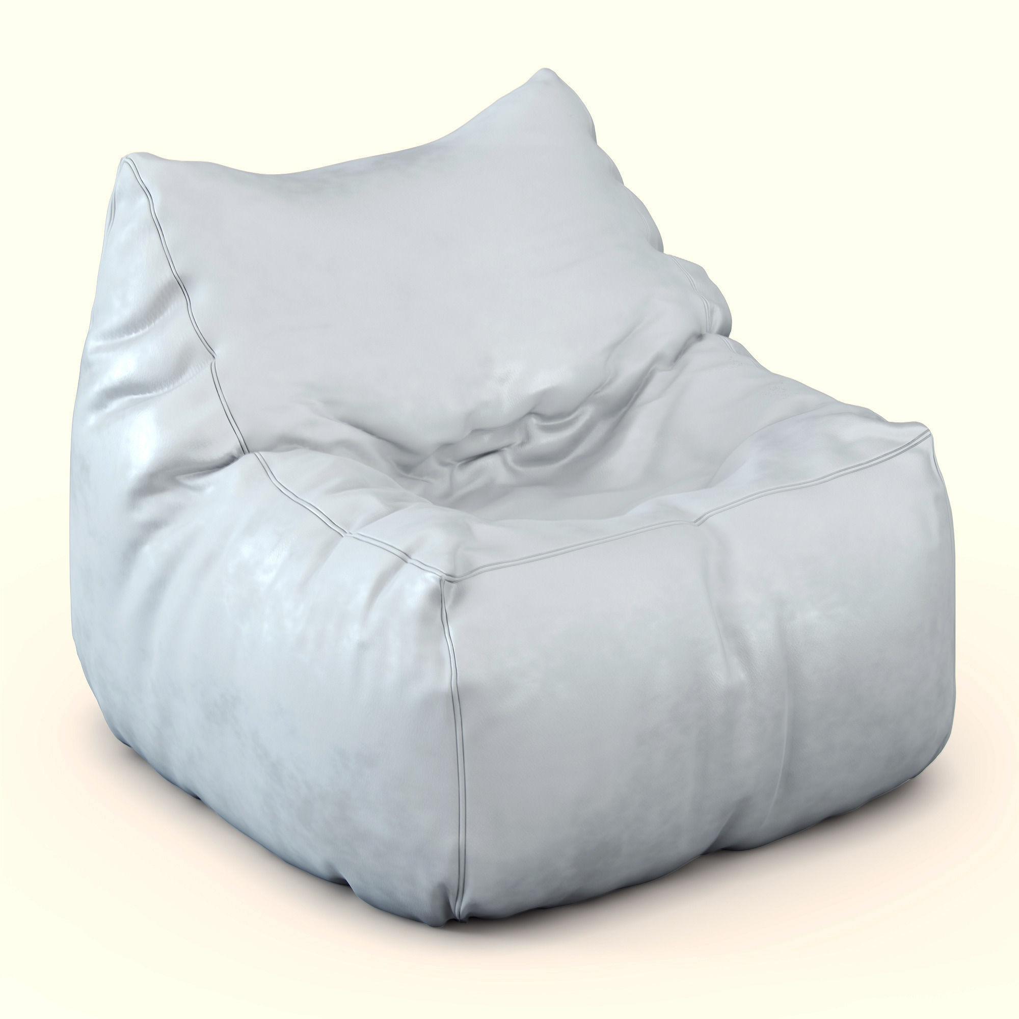pouf jumbo bag soul noir 3d model max. Black Bedroom Furniture Sets. Home Design Ideas