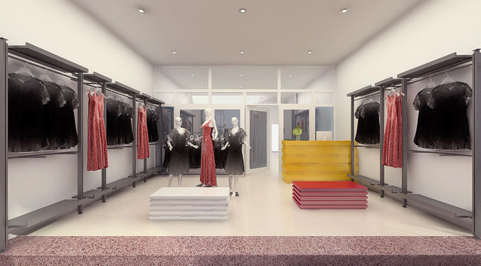 Buy And Sell Apps >> 3D model Fashion Shop Interior | CGTrader