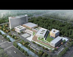 3D model Hospital building 001
