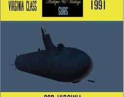 Virginia Class sub model 3D madeintabarnia