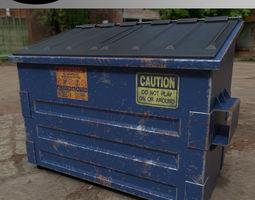 3D asset PBR Dumpster