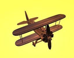 wooden plane 3D model