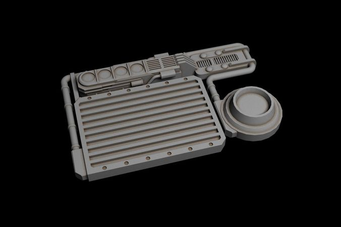 device for spaceship  3d model max fbx 1
