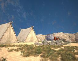 Special tent 3D model realtime