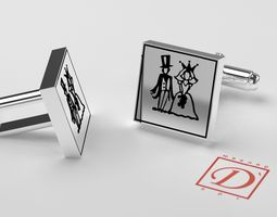 3d printable model cufflinks mens