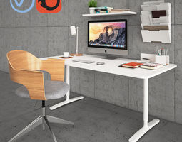 3D Bekant Desk with Fjallberget