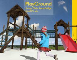 Playground for children 3D model