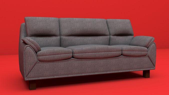 3D model sofa furniture modern sofa interior object