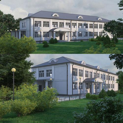 classical public building 3d model max obj mtl fbx 1