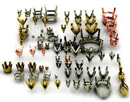 3D Modeler tool package of rings heads