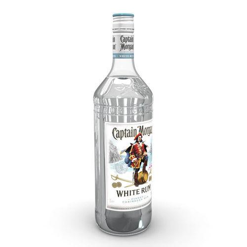 captain morgan white 1l bottle 3d model max obj mtl 3ds fbx c4d ma mb 1