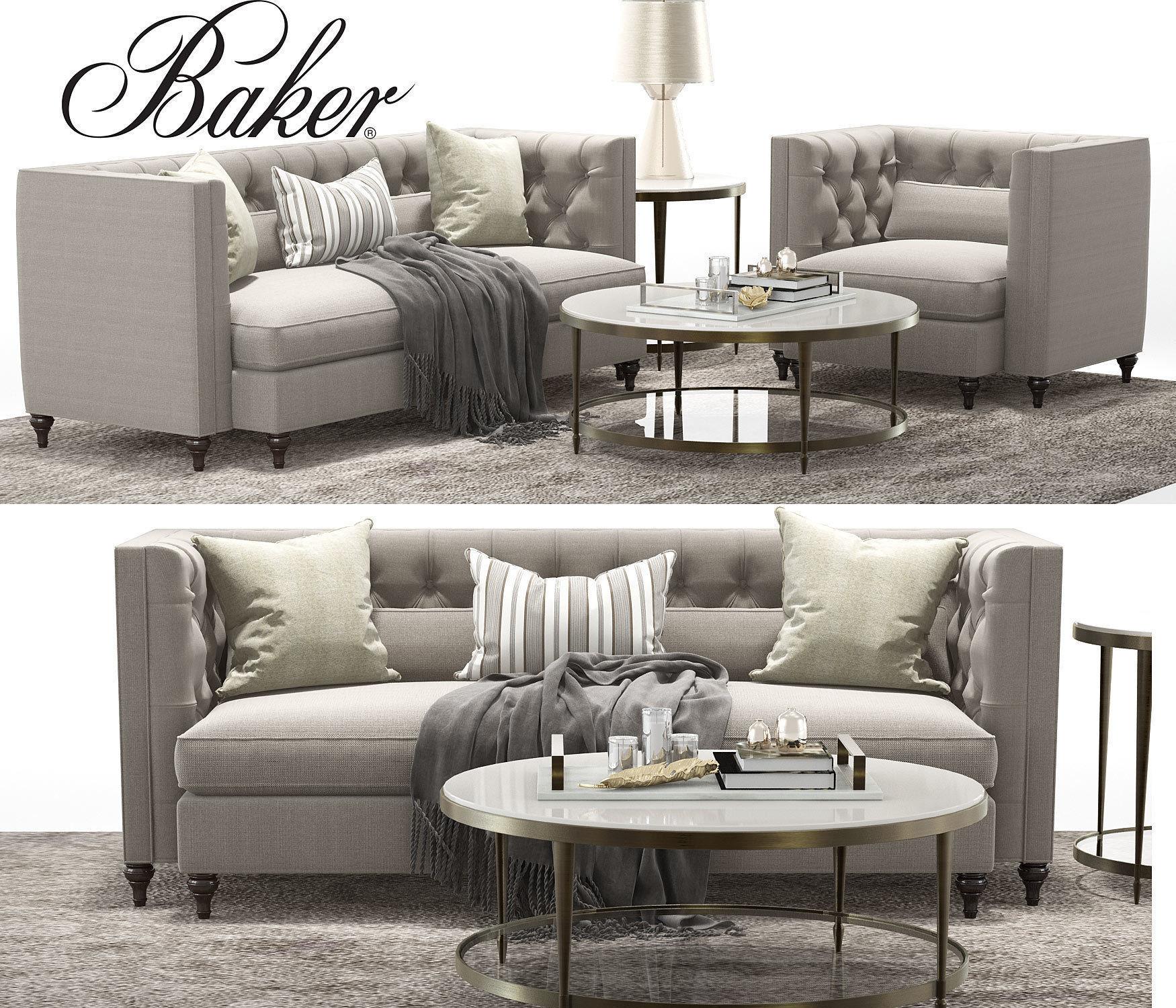 Baker Blake Tufted Extended Sofa Blake Tufted Lounge Chair 3d Model Max Obj  Mtl ...