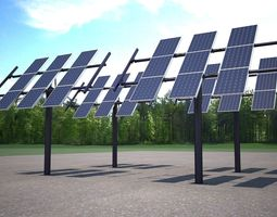 3d model solar panel traking system