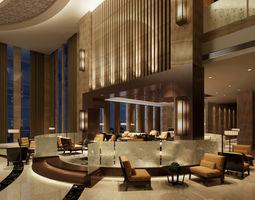 modern lobby 3D asset