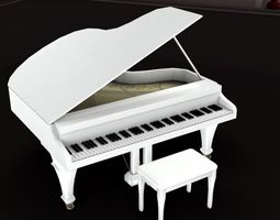 3D asset VR / AR ready Piano 1
