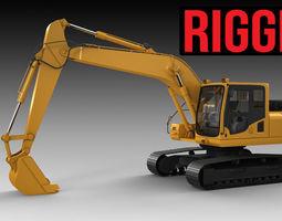 Excavator RIGGED 3D