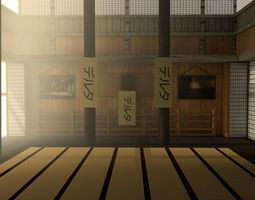 Japanese training dojo 3D model