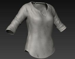 3D Zbrush Female Pullover