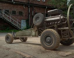 3D model DB-5 scout vehicle