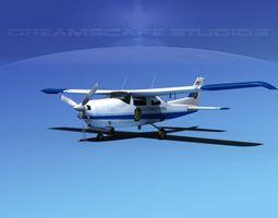 Cessna 210 US Border Patrol 3D