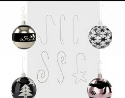 3D model Ornament Hooks Collection