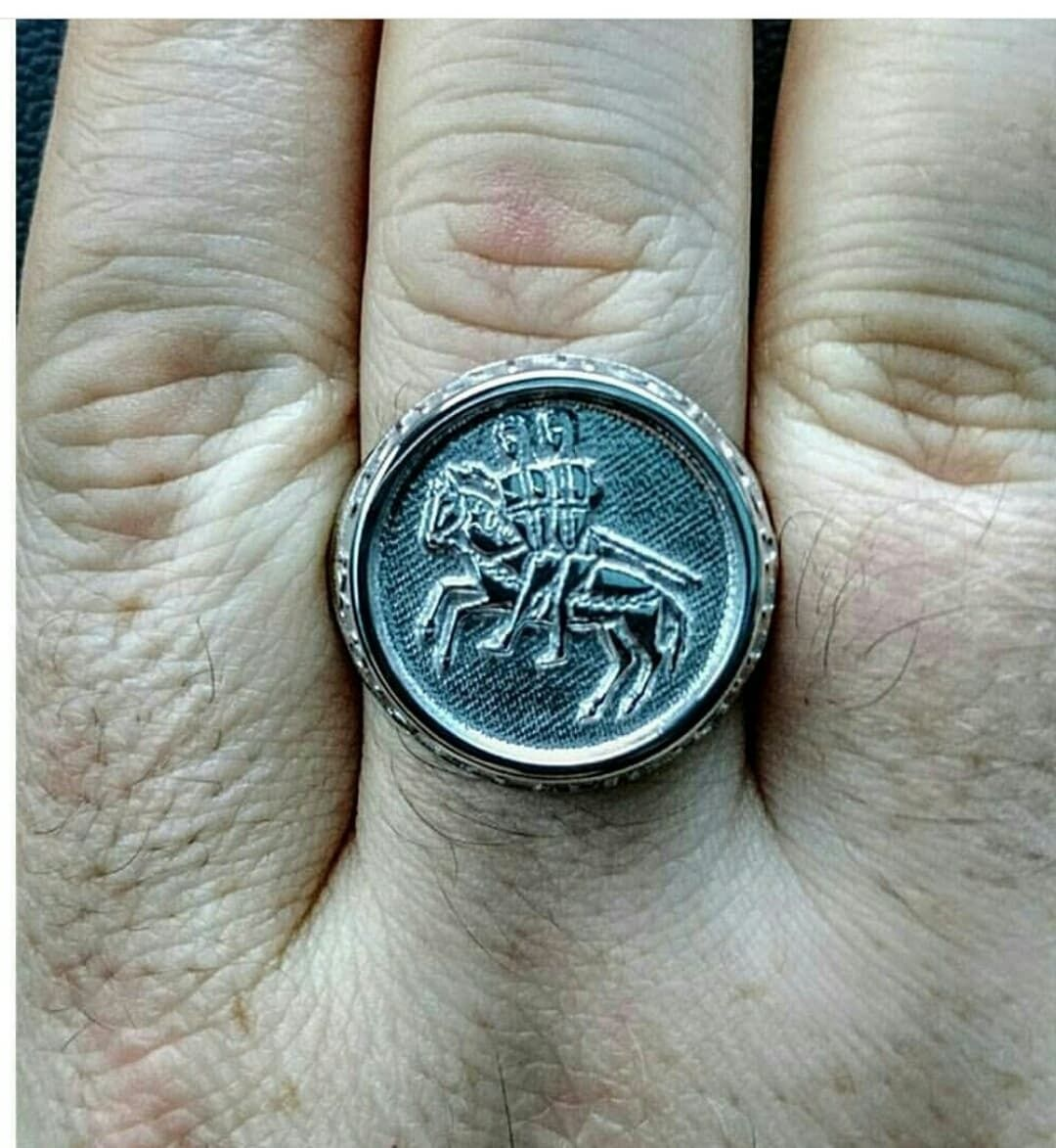 Templar seal mens ring