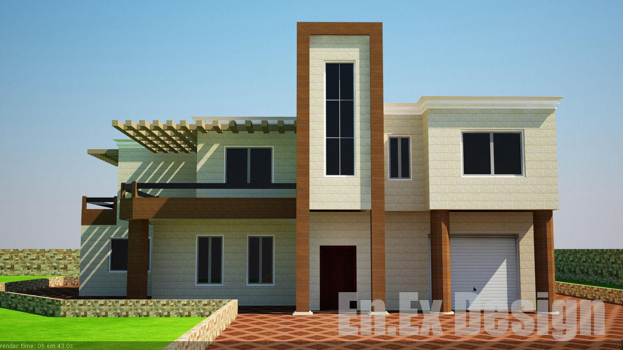 Modern villa 3d model m obj 3ds dwg grader com