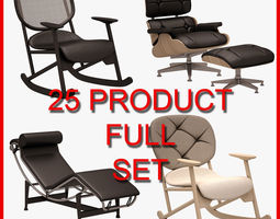 3D Armchair and Sofa Set 002 25 Product