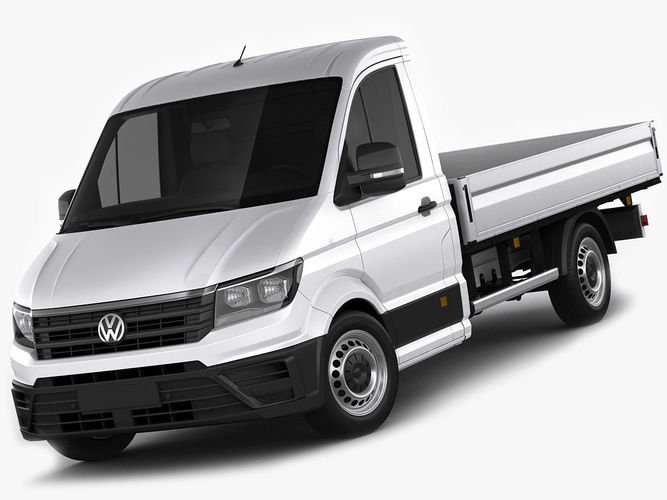 vw crafter 2017 single cab pickup 3d model cgtrader. Black Bedroom Furniture Sets. Home Design Ideas