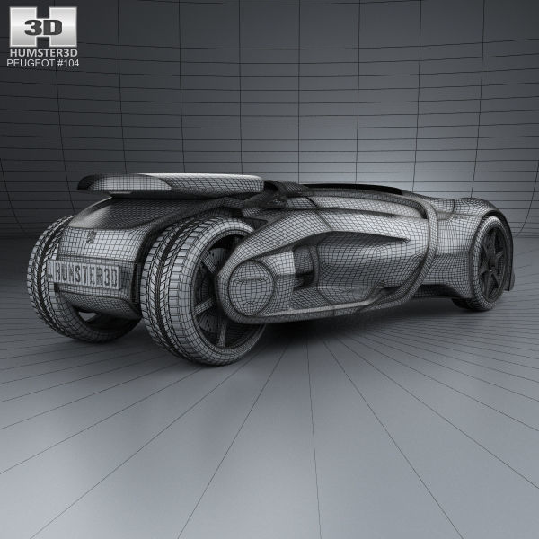 Peugeot Ex1 2010 3d Cgtrader