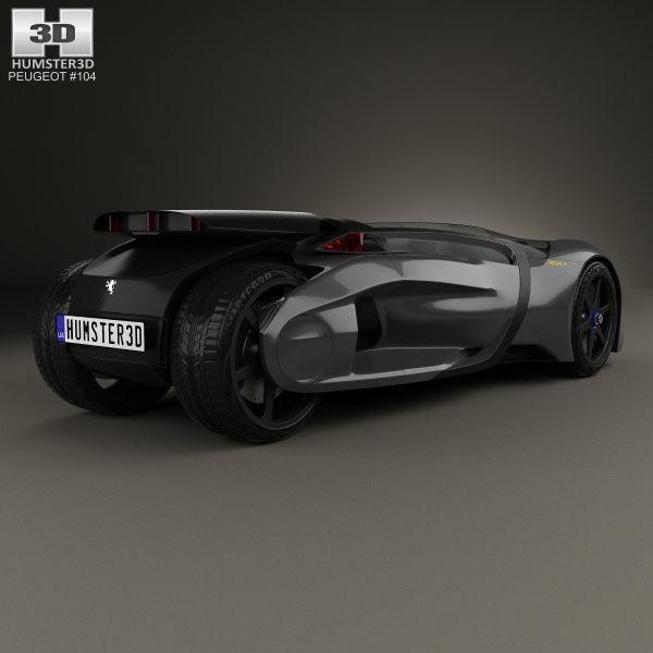 ... Peugeot Ex1 2010 3d Model Max Obj 3ds Fbx C4d Lwo Lw Lws 2 ...