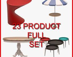 3D model Table and Coffee Table Set 001 23 Product