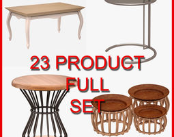 Table and Coffee Table Set 002 23 Product 3D model
