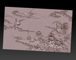 pannel rooster 3D