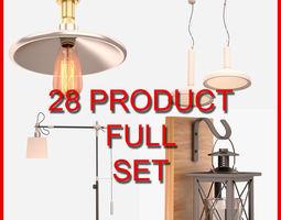 Interior Lamp Set 002 28 Product 3D