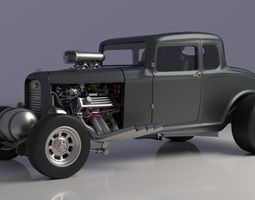 racing 3D model Coupe 1932