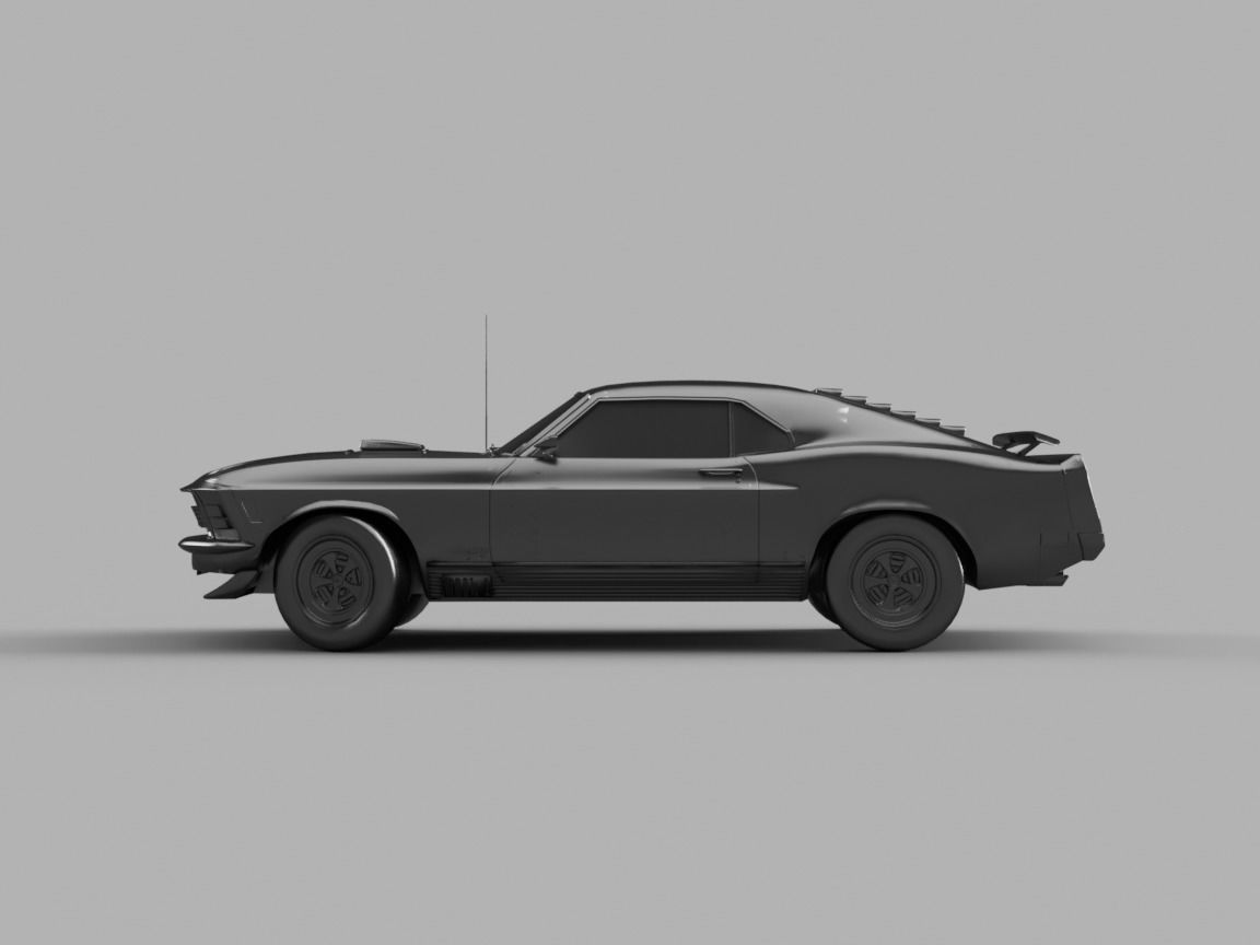 1969 mach 1 3d model obj mtl