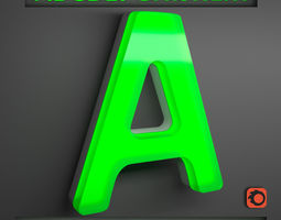 ENGLISH ALPHABET LETTERS- NEON LIGHT 3D