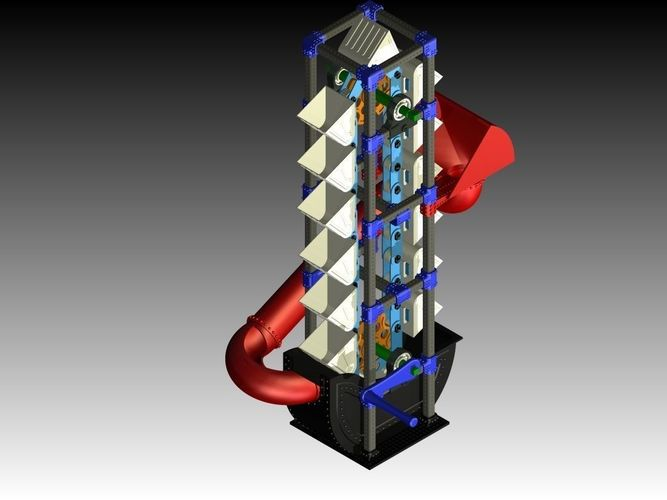 modular bucket elevator - assembly expansible 3d model stl pdf 1