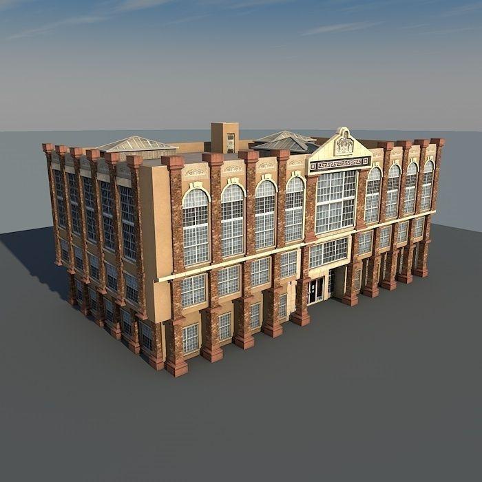 Lowpoly Vintage Building 02