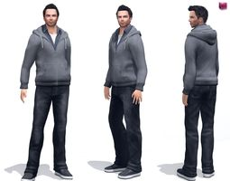 3D model Mens Casual Hoody Street Full Outfit