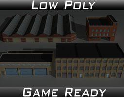 3D asset Factory Building Set 3