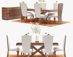 Classic Dining Room Set 3D