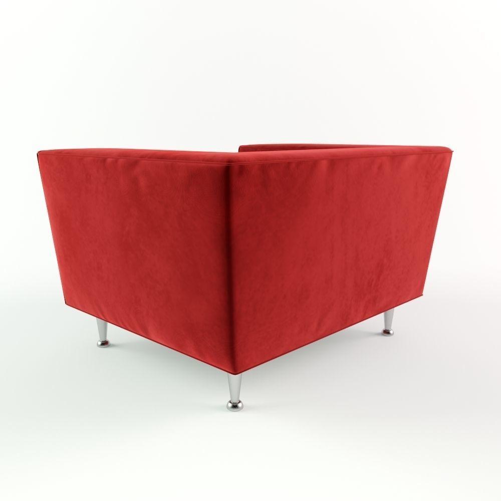 red velvet sofa. Red Velvet Sofa 3d Model Max 3