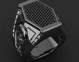 3D printable model fashion man ring jewelry