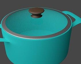 3D model household Metal Pot