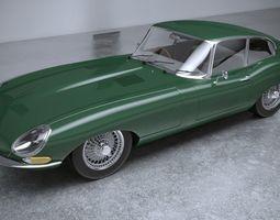 Jaguar S8 E Type 1961 3D model