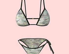 3D model Sexy Army Bikini P02
